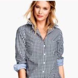 H&M L.O.G.G Checkers Plaid Blue Boyfriend Shirt